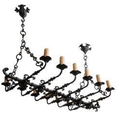 Wonderful 19th Century Iron Chandelier