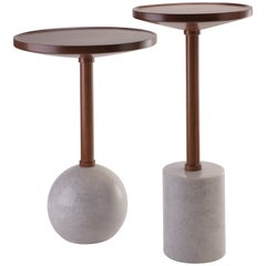 Monterrey Side Tables, White Marble