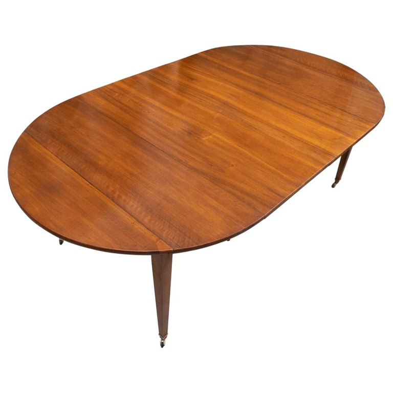 19th Century French Walnut Extension Table For Sale
