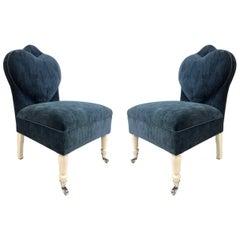Hollywood Regency Slipper Chairs