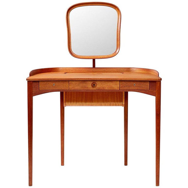 Carl Malmsten Birgitta Dressing Table, Mahogany For Sale