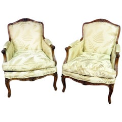 Pair of French Regency Style Bergères