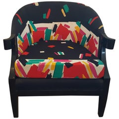 Baker Club Chair in 80s Fabric
