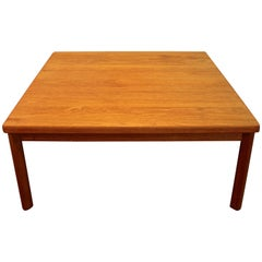 Midcentury Danish Modern Square Teak Coffee Table