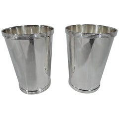 Pair of Tall Sterling Silver Mint Julep Cups by Fisher