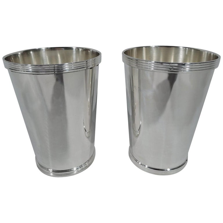 Pair Of Frank W Smith Sterling Silver Mint Julep Cups For Sale At