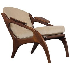 Fully Restored Adrian Pearsall Craft Paddle Single Lounge Chair