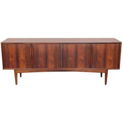 Four-Door Elegant Midcentury Danish Sideboard in Brazilian Rosewood