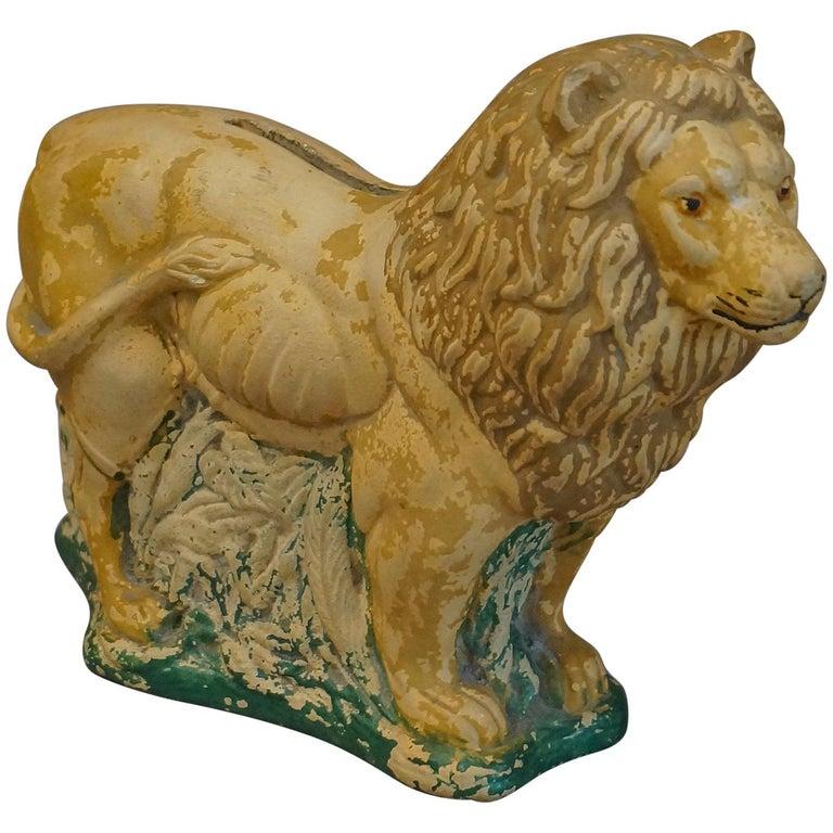 Danish Pottery Lion Bank