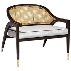 Wormley Armchair, Contemporary Lounge Chair with Caned Backrest