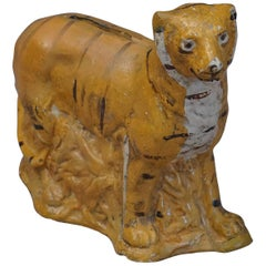 Danish Chalkware Tiger Bank