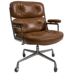 Time Life Leather Desk Chair by Charles and Ray Eames, Mfg. Herman Miller