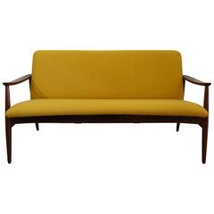 "José Espinho Midcentury Yellow Fabric ""Olaio 67"" Sofa for Móveis Olaio, 1967"