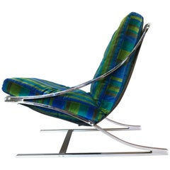 "Paul Tuttle ""Z"" Lounge Chair with Jack Lenor Larsen Cushions"