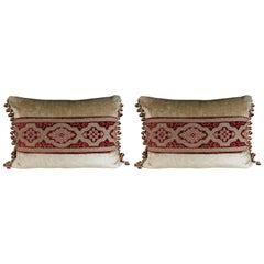 Pair of Cut Velvet Pillows by Melissa Levinson