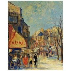 Jean Le Van 'Danish' Oil on Canvas Original Art