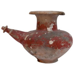 Ritual Ceramic Pot or Kendi, Red Coloration, Sawankhalok Thailand, 15th Century