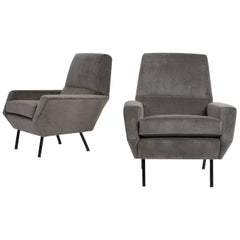 1960s Pair of Italian Midcentury Lounge Chairs