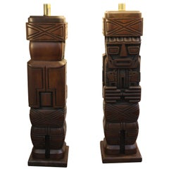 Pair of Tiki Lamps
