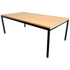 Florence Knoll Birch T Angle Architectural Coffee Table