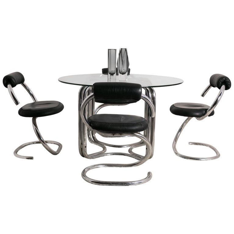 """Cobra"" Dining Set by Giotto Stoppino, circa 1970, Italy"