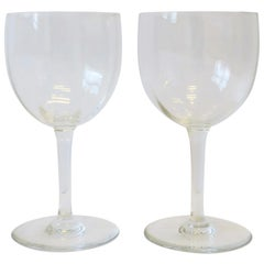 Pair of Baccarat French Crystal Montaigne Glasses