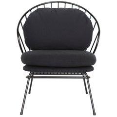Madeleine Contemporary Armchair, Brazilian Design in Carbon Steel
