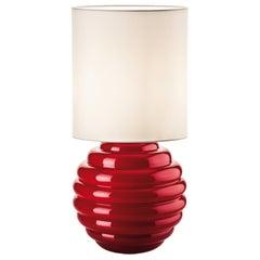 Venini Deco Table Lamp in Red by Napoleone Martinuzzi