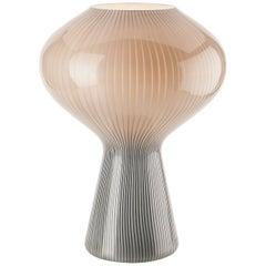 Venini Fungo Table Lamp in Gray and White by Massimo Vignelli
