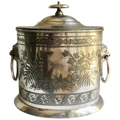 Walker and Hall Sheffield Silver Tea Caddy