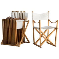 Mogens Koch Set of Six Folding Chairs for Rud. Rasmussen