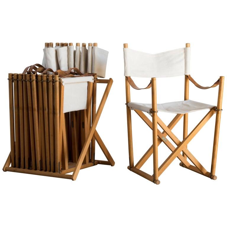 Mogens Koch Set of Six Folding Chairs for Rud. Rasmussen