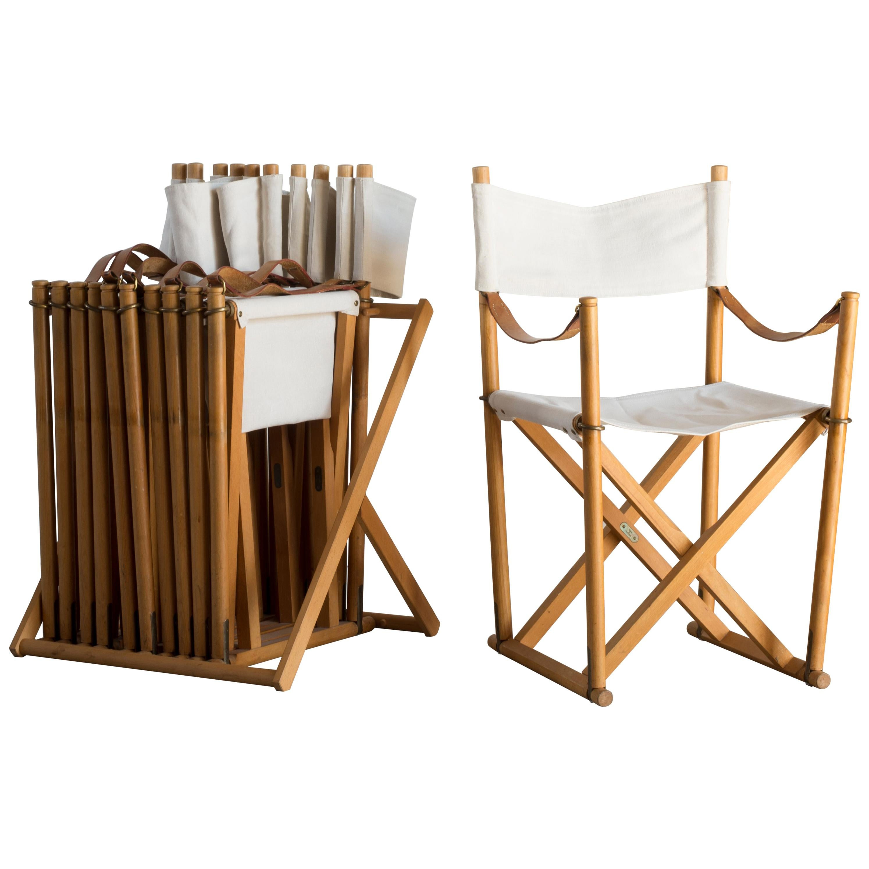Exceptionnel Mogens Koch Set Of Six Folding Chairs For Rud. Rasmussen