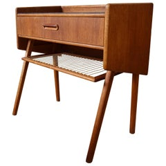 Danish Midcentury Teak and Rosewood Night Table, 1960s