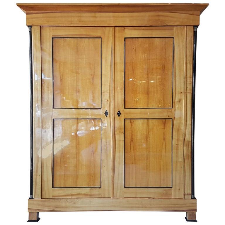 Brown Biedermeier Style Cabinet