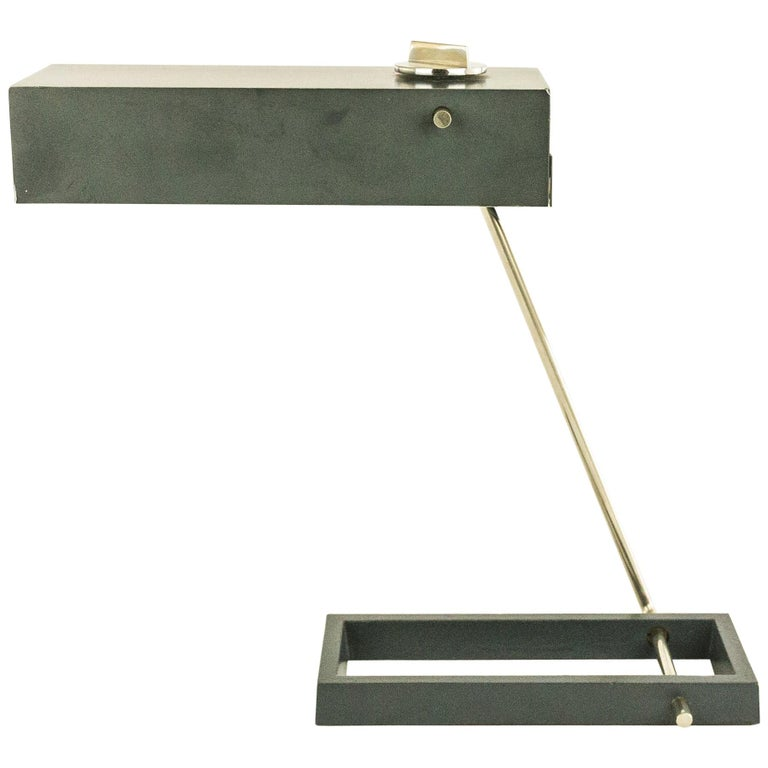 Adjustable Table Lamp Attributed to Kaiser, 1950s