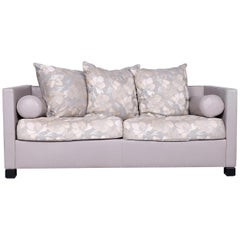 De Sede 3000 Edition Designer Leather Fabric Sofa Grey Two-Seat Couch