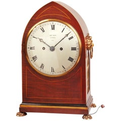 Antique Mahogany Bracket Clock by Thomas Moss, London