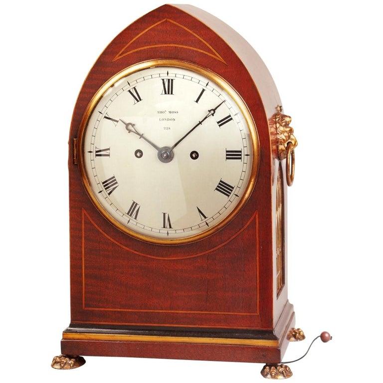 Regency mahogany bracket clock by Thomas Moss, London
