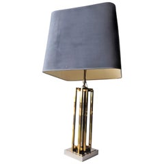 Brass and Chrome Table Lamp Attributed to Willy Rizzo