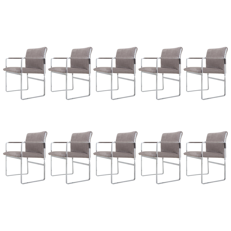 Set of Ten Armchairs, JH 811 by Hans J. Wegner