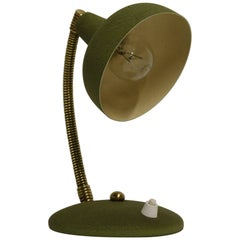 Vintage Green Italian Desk Lamp, 1950s
