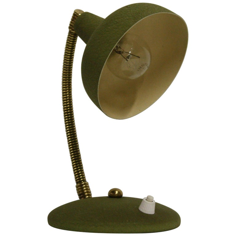 Vintage Green Italian Desk Lamp, 1950s