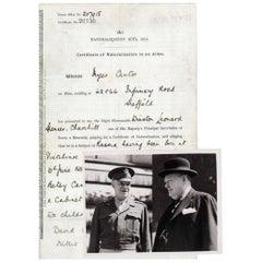 Winston Churchill Signed Document and Original Press Photographs