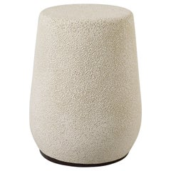 'Lightweight Porcelain' Stool and Side Table, White