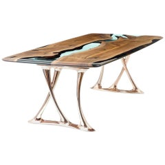 Osso 270 Epoxy Resin Walnut Dinning Table