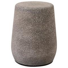'Lightweight Porcelain' Stool and Side Table, Medium Grey