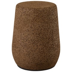 'Lightweight Porcelain' Stool and Side Table, Chocolate Brown