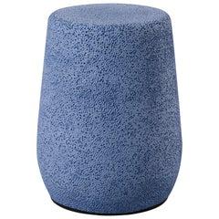 'Lightweight Porcelain' Stool and Side Table, Dark Blue