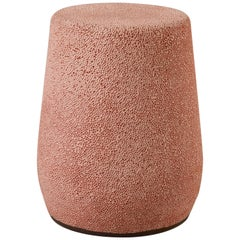 'Lightweight Porcelain' Stool and Side Table, Coral Pink